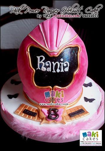 Pink Power Rangers Helmet Cake - Maki Cakes