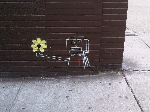 robotic flower offering