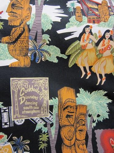 Tiki Print Fabric