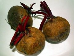 Beetroot on plate