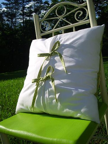 Margo Harvey, Ruffled Rosette Pillow