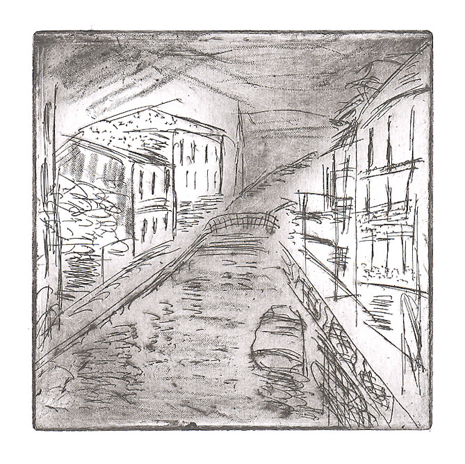 venice canal etching 02