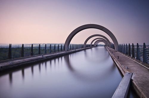 On Top of the Falkirk Wheel