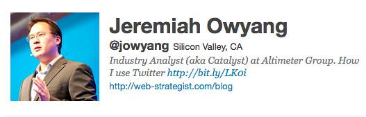 @Jowyang Twitter profile