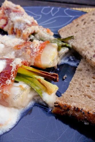 Roulés de jambon et poireaux à l'italienne / Italian Ham and Leek Rolls