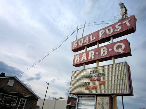 Goal Post Bar-B-Q Football Neon Sign Anniston AL