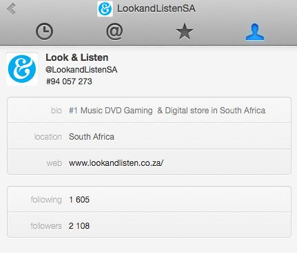 Look and Listen in desktop Twitter app