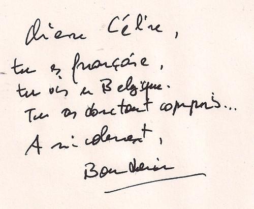 Pourquoi les Belges ne veulent pas devenir Français : la dédicace pour Céline