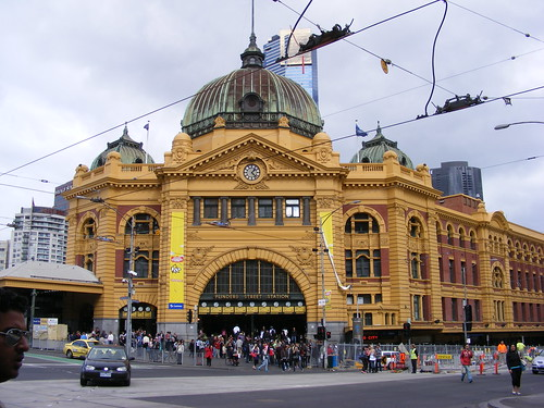 Picture from Flinders Station