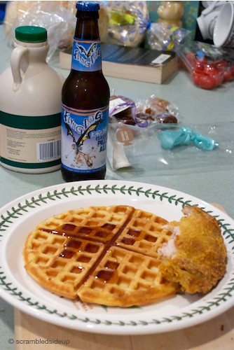 Chicken and Waffles with Beer!