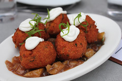 Curried chickpea fritters