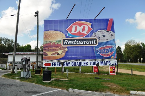 DQ Sign for Free Ray Charles Tour Maps, Greenville, Fla., March 26, 2011