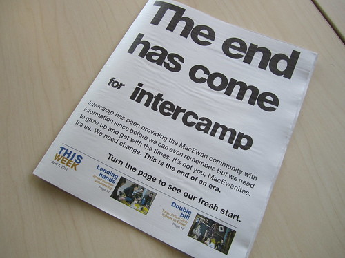 The end has come for intercamp
