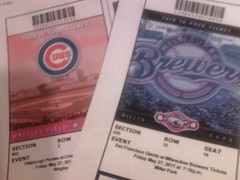 Tickets for wrigley and miller park for friday.  Chicago & Milwaukee. by baseislife