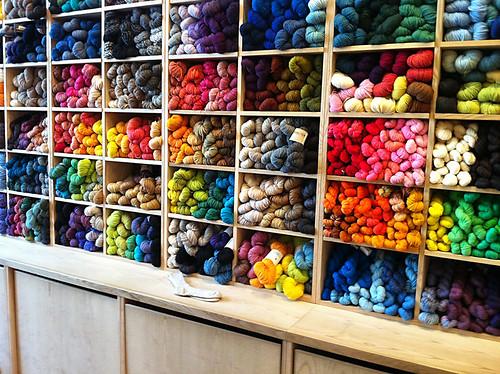 Purl Soho Wall of Yarn
