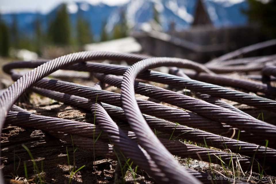 Steel cable from the old gold mine