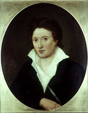 Portrait of Percy Bysshe Shelley by Amelia Curran (1819)