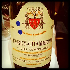 Geantet-Pansiot Gevrey Chambertin 1er Cru Le Poissenot 1998