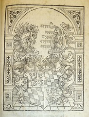 Woodcut coat of arms of the House of Wittelsbach