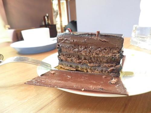 威士忌酒的黑巧克力蛋糕2