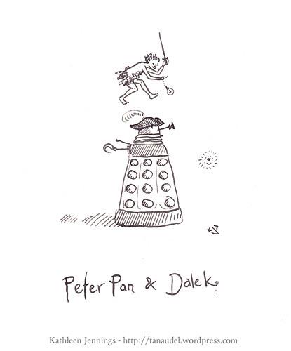Peter Pan and Dalek