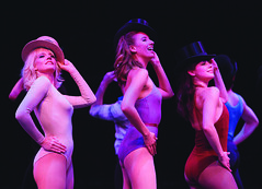 Jenifer Foote (Sheila), Julia Freyer (Judy) and Katie Huff (Kristine) in A Chorus Line, produced by Music Circus at the Wells Fargo Pavilion June 24 – 29, 2014. Photos by Charr Crail.