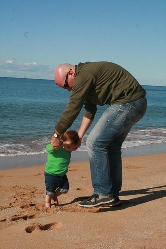 Dancing on Werri Beach