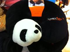Panda travel pillow by pahlkadot