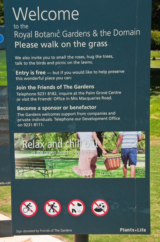 Please walk on the Grass!