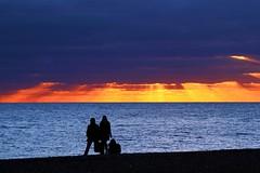 Brighton Beach - Watching the sunset