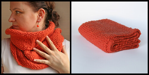 orange endless shawl