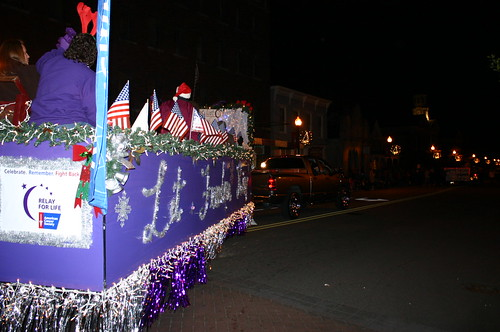 Relay for Life - Christmas Parade - Float Turns on Main Street