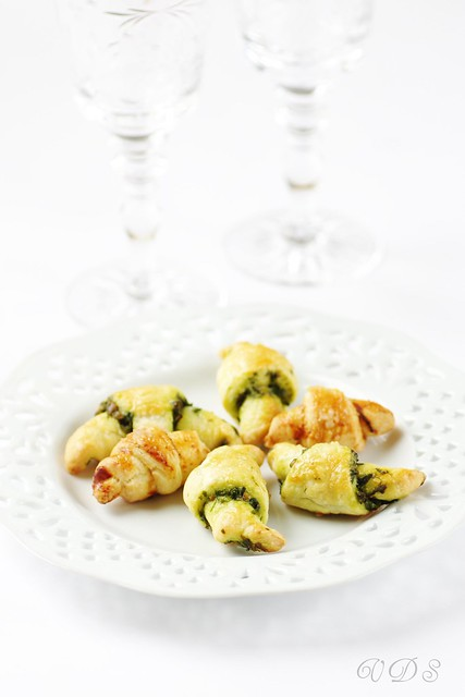 Salted rugelach with pesto
