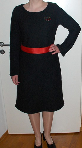 Wool bouclé dress
