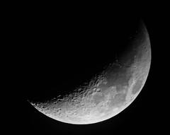 Como hacer fotos de la luna - Luna Creciente