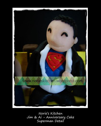 Norie's Kitchen - Jim and Ai - Anniversary Cake -superman detail