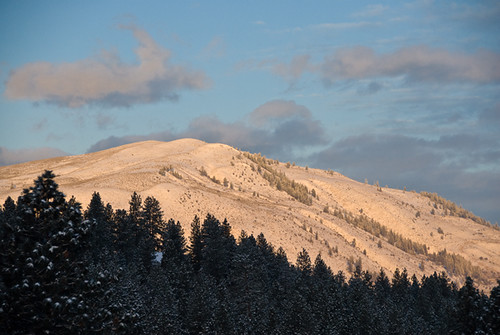 Morning light on Patterson mtn