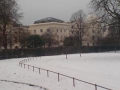 Snow in Regent's Park, London