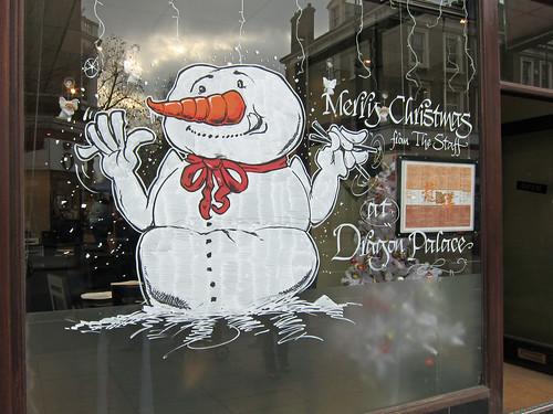 Snowman with Chopsticks!