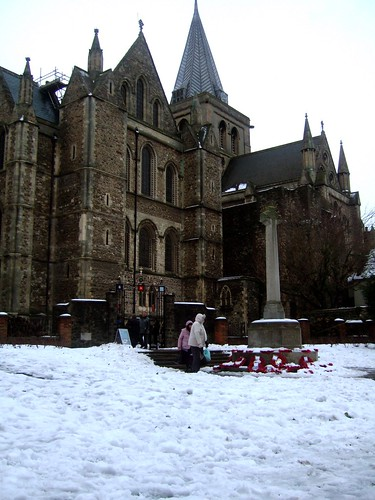 Rochester Cathedral In The Snow