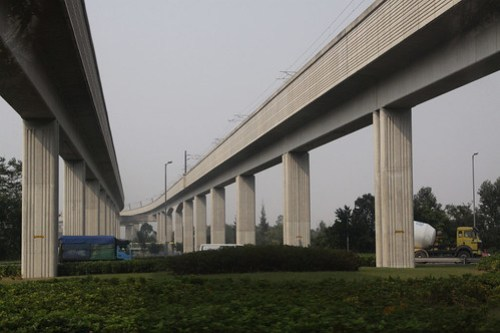 Viaducts carrying the West Rail line