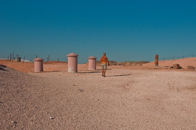 Walking over the rooftops, Coober Pedy