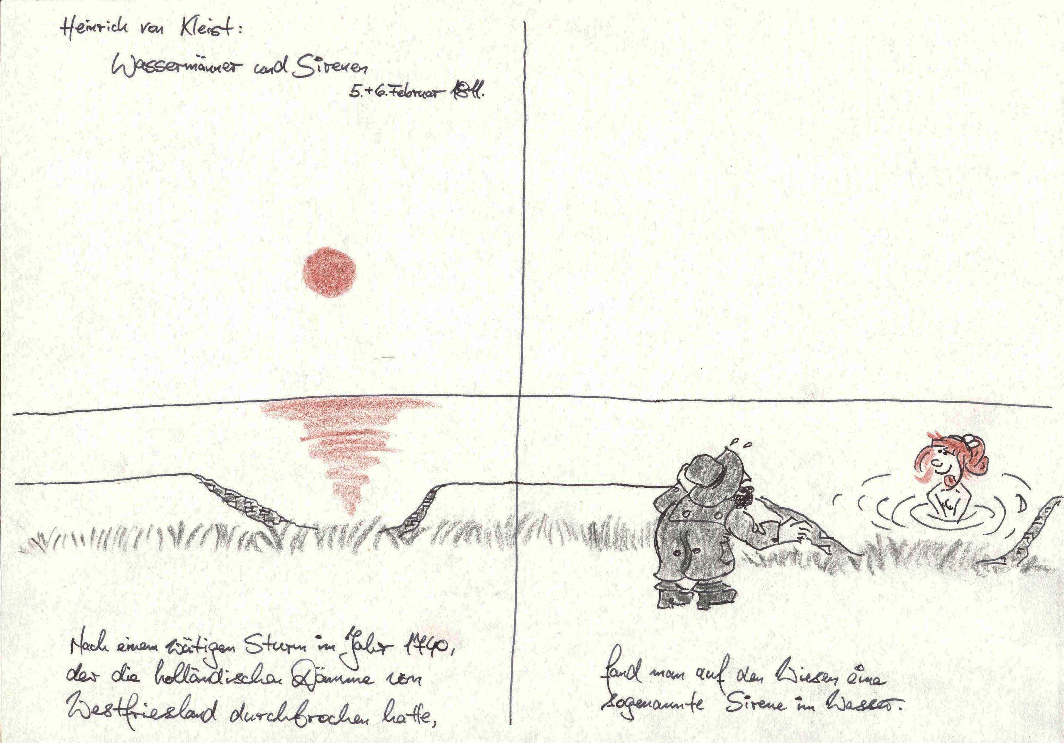 Heinrich von Kleist, Wassermänner und Sirenen, Teil 1 von 5