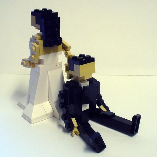 Bride dragging groom 2
