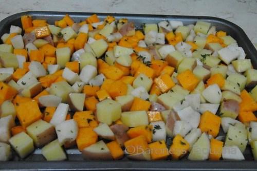 Butternut Squash, Jerusalem Artichokes and Potato