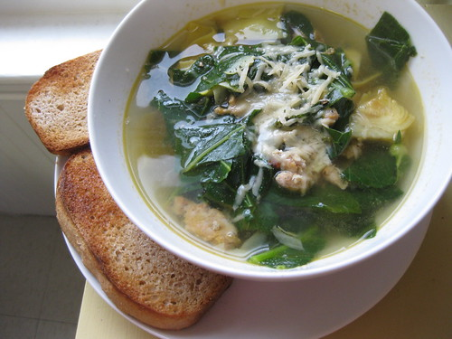 Chicken Sausage & Artichoke soup