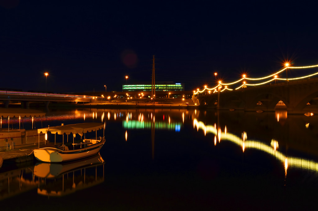 Tempe Town Lake Just Before Dawn