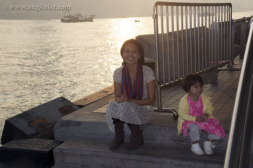 Lia and her Mama in Central Star Ferry Pier, Kowloon, HK 2010
