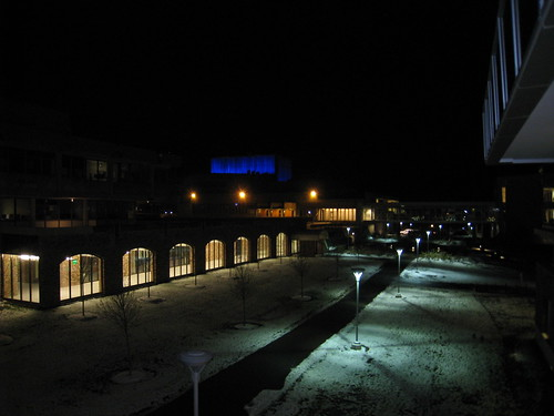 ithaca college at night