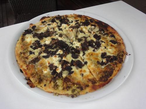 Coopers: Mushroom, feta and pesto pizza